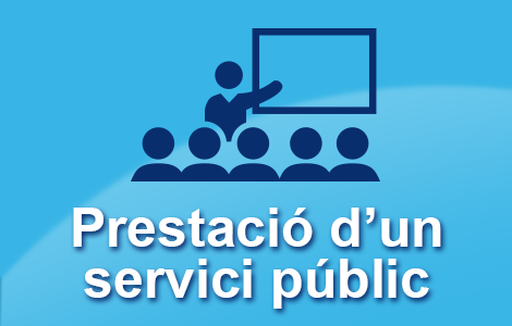 prestació d'un servici públic